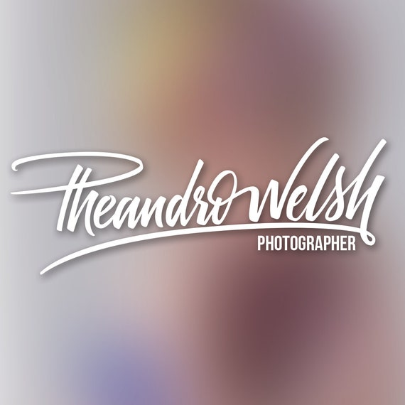 hand lettering signature style logo