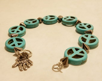 Peace and Edge Turquoise Bracelet