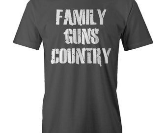 Family Guns Country T-Shirt Funny Red Neck Nra Shooters Patr