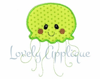 Jellyfish Embroidery Design Applique Instant Download