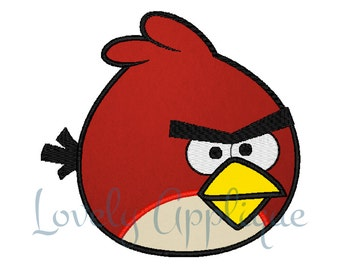 Angry Birds -Red- Applique Design - Instant Download