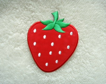 Cute Red Strawberry Fruit DIY Applique Iron on Patch
