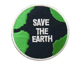 Save the Earth DIY Applique Iron on Patch