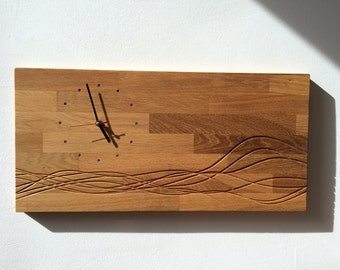 wooden clock with poem