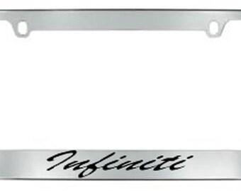 Infiniti Script License Plate Frame