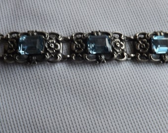 ANTIQUE ART nouveau sterling silve bracelet.........C.1920s