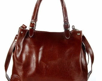 Large Brown Leather Handbag