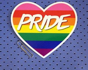 Pride - Gay Pride Rainbow Flag Heart Sticker