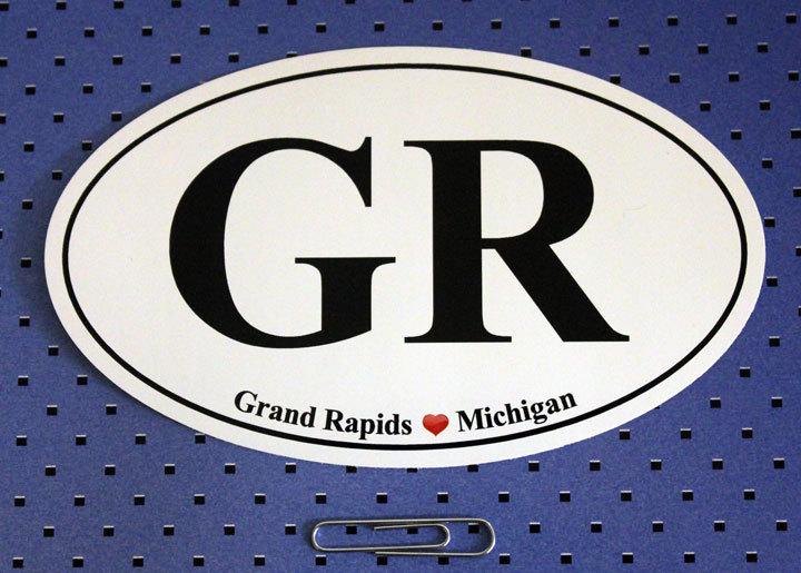 Canapé En Soldes Chez Fly : Grand Rapids Michigan GR Oval Bumper Stick