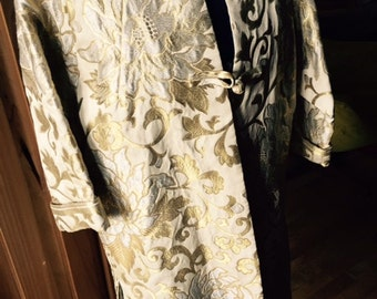Fall Brocade Jacket with Silk, vintage Lining Size 6
