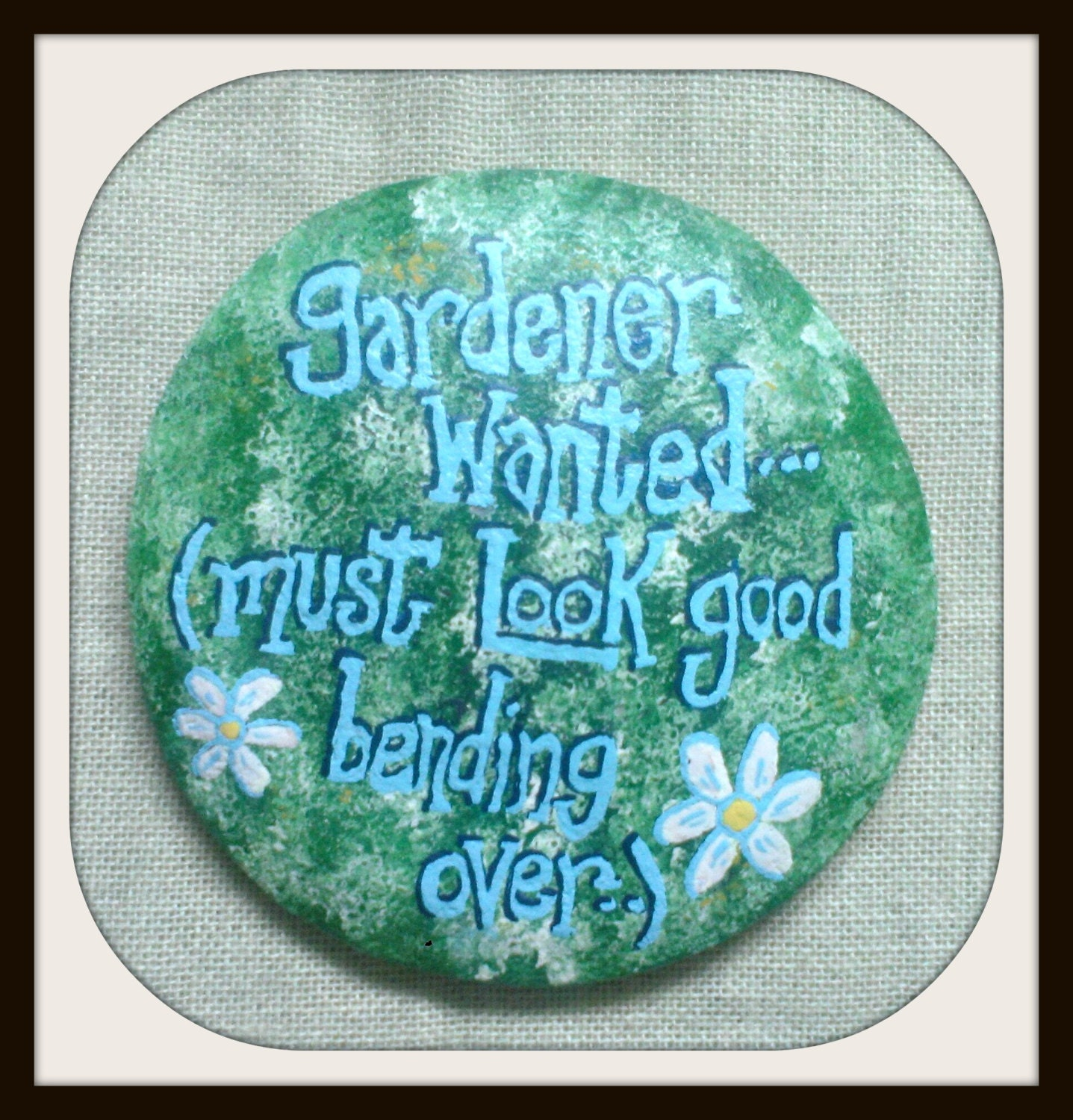 Hand painted garden stepping stone by morningstarstepstone - Hand painted garden stones ...