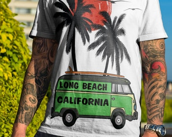 Long beach t-shirt, California, van shirts, long beach California t-shirt,surf shirt,graphic t-shirt. long beach.