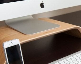 Bamboo Monitor Stand - Desk Collection