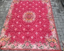 velvet fabric aubusson decorative machine velvet rug weaving