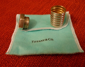Tiffany & Co nut and bolt screw pill container