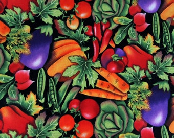 """1 Yard 29"""" Mixed Vegetables Fabric 319"""