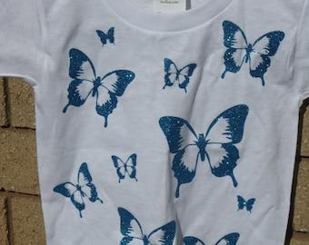 Butterfly Glitter Kid's T Shirt