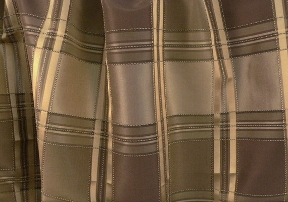 pair of curtains in mocha brown taupe and gold by marcellelinens. Black Bedroom Furniture Sets. Home Design Ideas