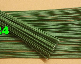 """400 Wire Stems--Gauge#24-- (Length 12"""" X 0.8 mm) Floral Wire Flower Stem Artificial, Artificial Stems, Floral Stem, Green Wire Stems."""