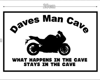 Personalized Metal Wall signs, Man Cave, Garage, Shed 20cm x 15cm