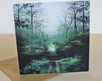 The Tunnel - Fine Art card - Trees - Woodland