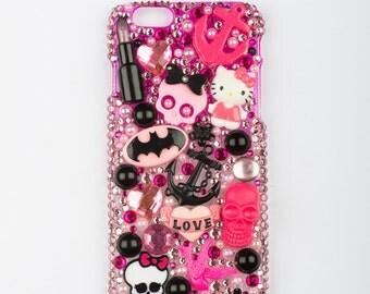 Pink cute kawaii girly decoden iPhone 6 phone case