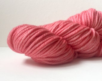 Hand Dyed 100% Superwash Merino Bulky Yarn-Flamingo