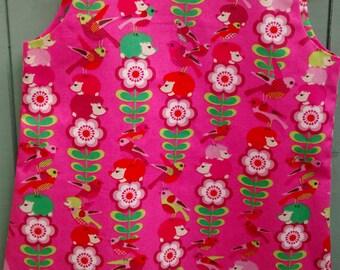 Pink Animals Summer A-Line Dress