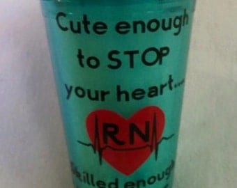 Nurse Appreciation Tumbler Cup With Lid and Straw