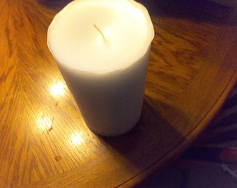 Soy wax Round Pillar Candle French Vanilla Scented