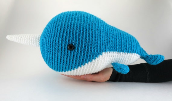 Big Whale Amigurumi : Large amigurumi narwhal pattern - crochet whale pattern ...