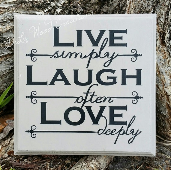 Live Laugh Love Wood Sign Plaque Home Decor By