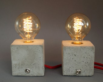 Nomad concrete lamp table lamp table lamp without bulb for Nachttischlampe vintage