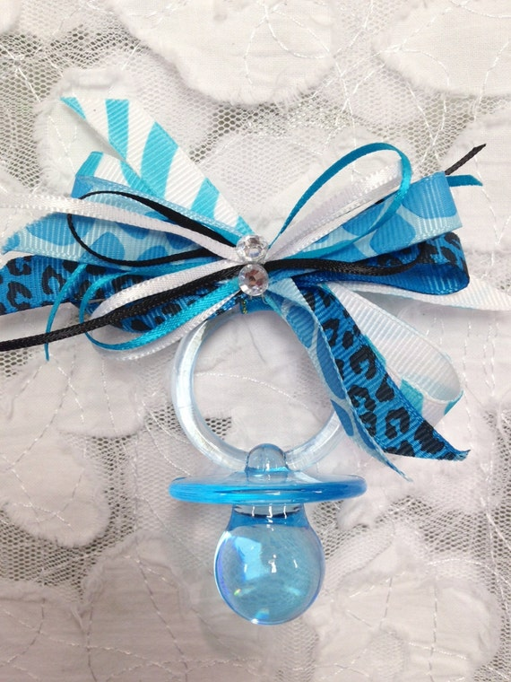12 safari baby shower pins guest corsages blue favors baby shower