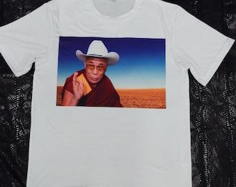 Dalai Lama Cowboy Tee Shirt