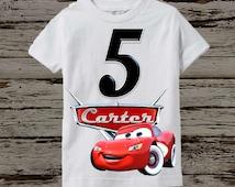 Disney Cars Birthday Shirt - Disney Cars Shirt - More Options Available
