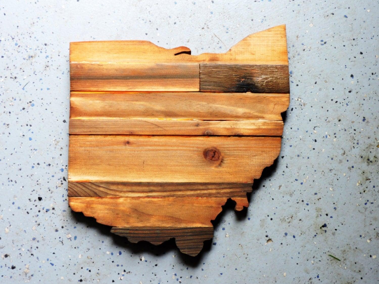 Ohio State Outline Ohio Wall Decor Ohio Rustic Wood State