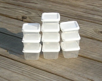 10 Square Plastic Containers w/ Lids