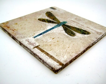 Dragonfly Glass Coaster