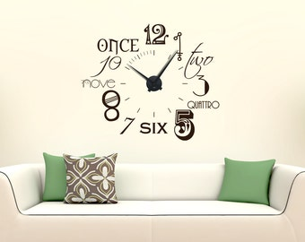 Modern wall clock wall clock numbers international new