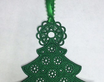 Christmas Tree Embroidered Ornament