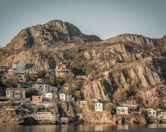 Newfoundland Art Print, Large Wall Art, The Battery, St John's Photography, Landscape Photograph, Nature Art Print - Living on the Edge
