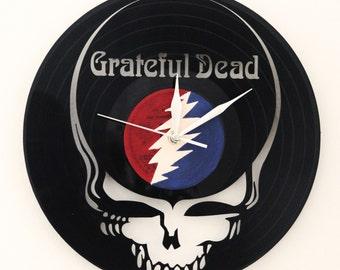 Grateful Dead vinyl clock