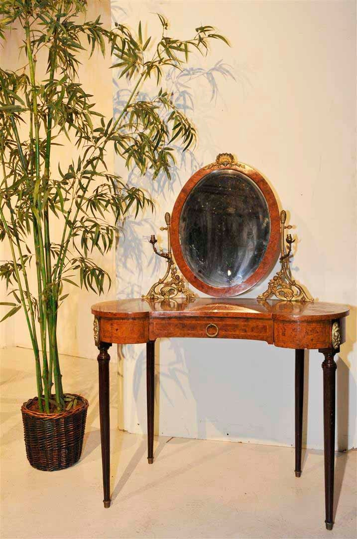 vanity dressing table french antique louis xvi adjustable