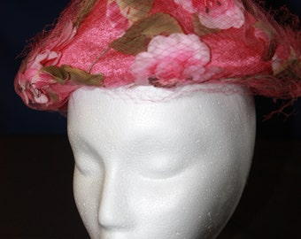 Vintage Melinda Hat Pink Floral