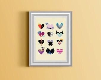 • Disney poster in love
