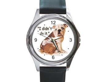 I Didn't Do It   Round Metal funny Watch