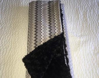 Chevron Minky Cuddle Blanket