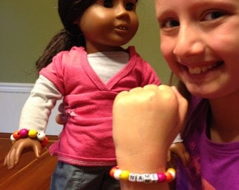 American Girl and Owner Matching Bracelet Set