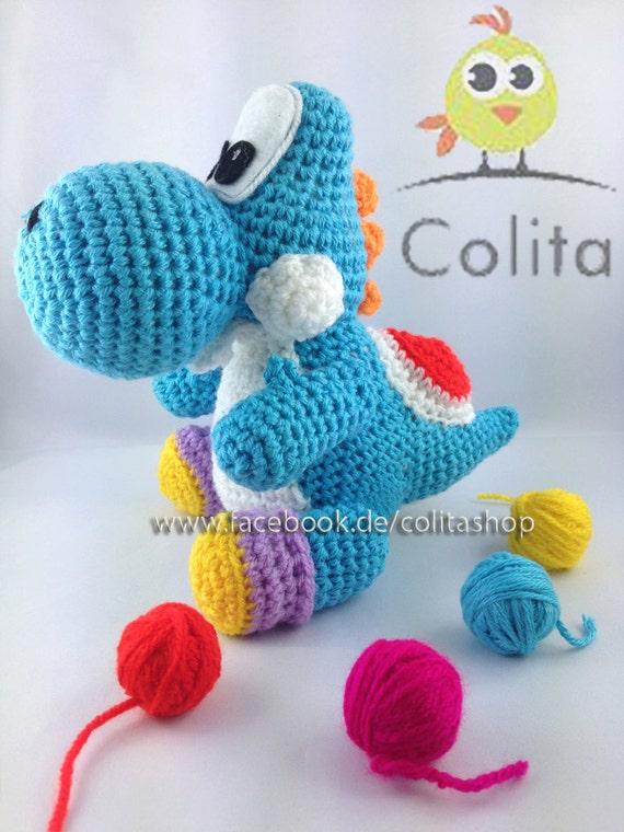 Yoshi Pattern crochet Amigurumi Wolly German English PDF